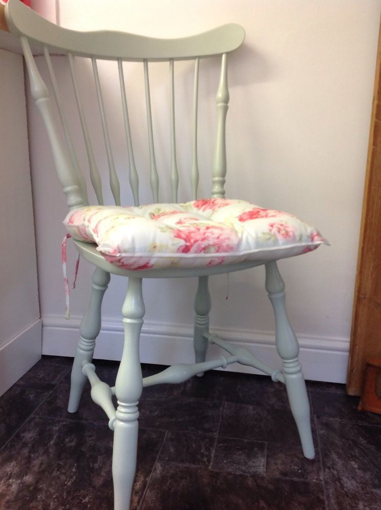 Baby Blue Floral Laura Ashley Seat Pads X4 | Fabric dining ...