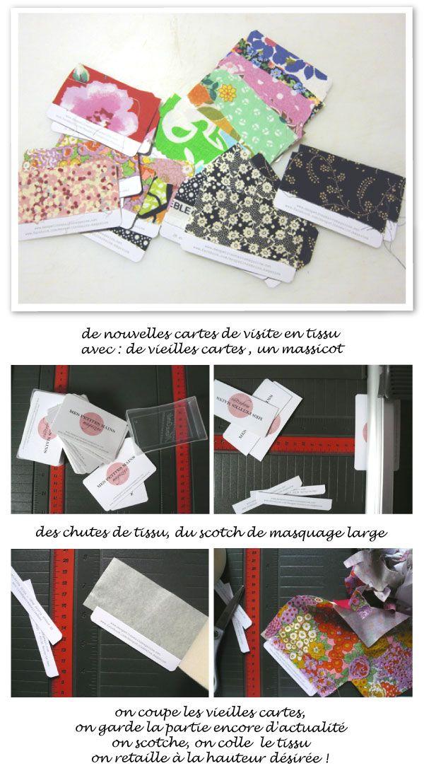 Check List Et Cartes De Visite En Tissu Mespetitesmainsmagazine