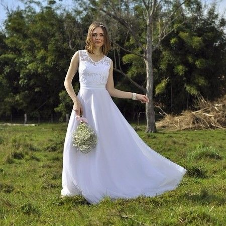 Vestido de casamento rustico simples