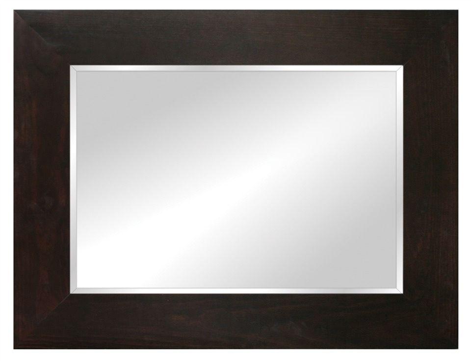 Large Timber Framed Mirror Dark Oak Stain