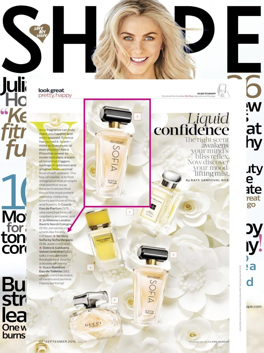Looking for your liquid confidence? @shapemagazine featured our NEW So Very Sofia by Sofia Vergara fragrance as a top mood lifting mist.
