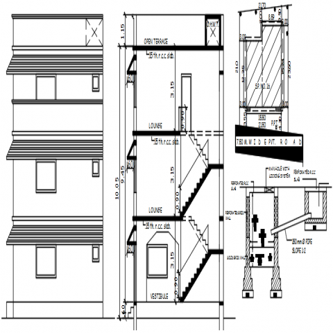 This Is The Detail Drawing Of Doors Internal Part With Wall Section Elevations Of Door Some Texting Details A In 2020 Furniture Details Drawing Wooden Doors Door Plan