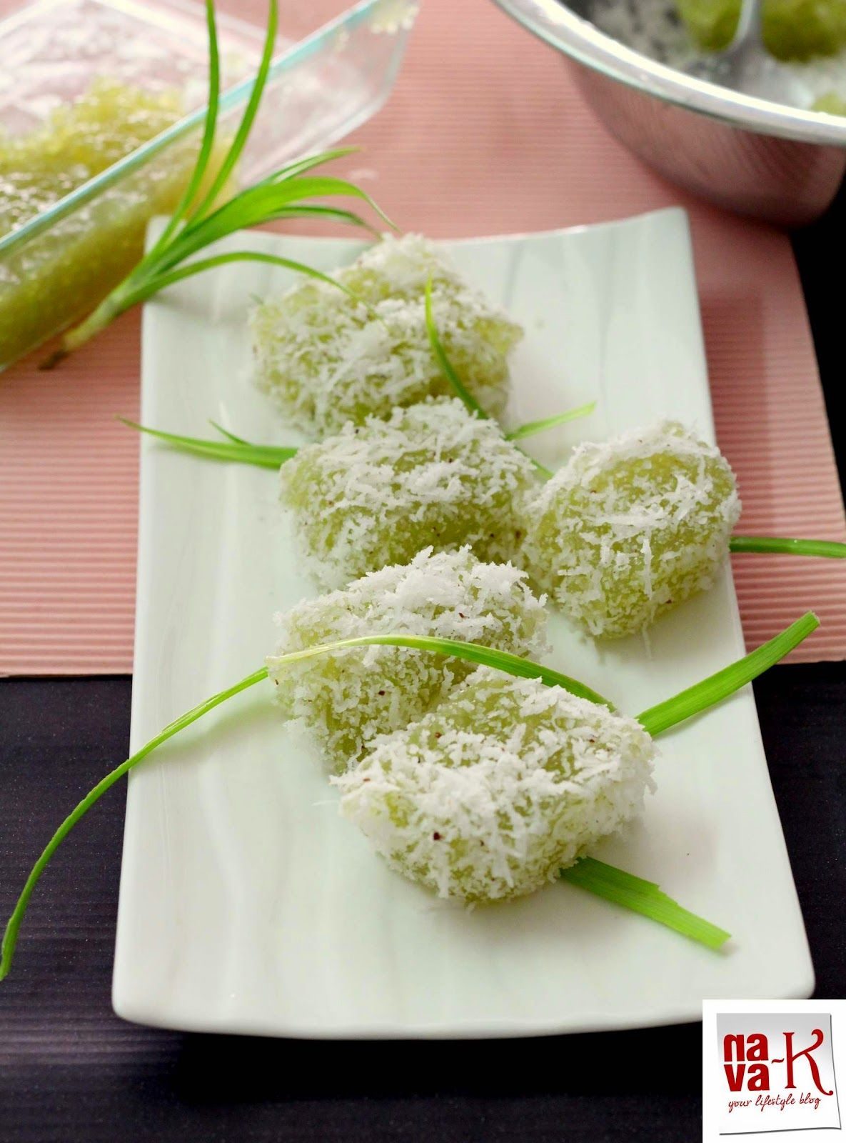 Kuih Sagu Kukus Steamed Sago Cake Asian Desserts Chinese Dessert Desserts