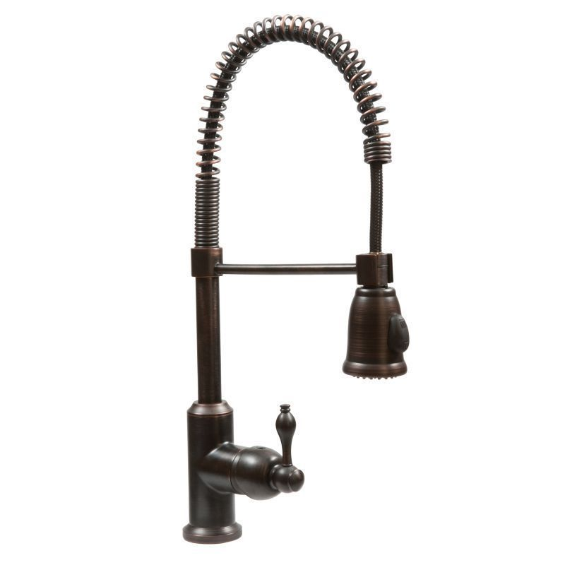 Premier Copper Products Oil Rubbed Bronze Spring Pull-down Kitchen ...