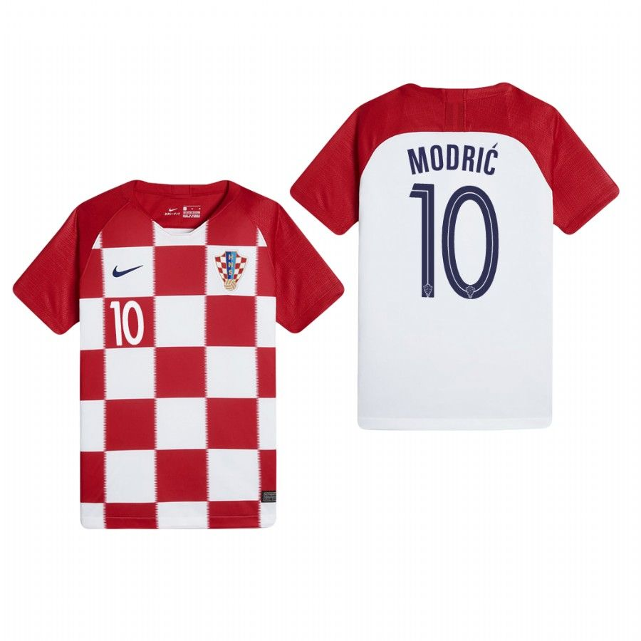 huge selection of 8ead4 7e4f2 Croatia Luka Modric World Cup 2018 Home Soccer Jersey New ...