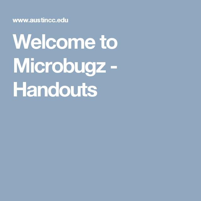 Welcome to Microbugz - Handouts | Handouts, Uptown funk, Funk