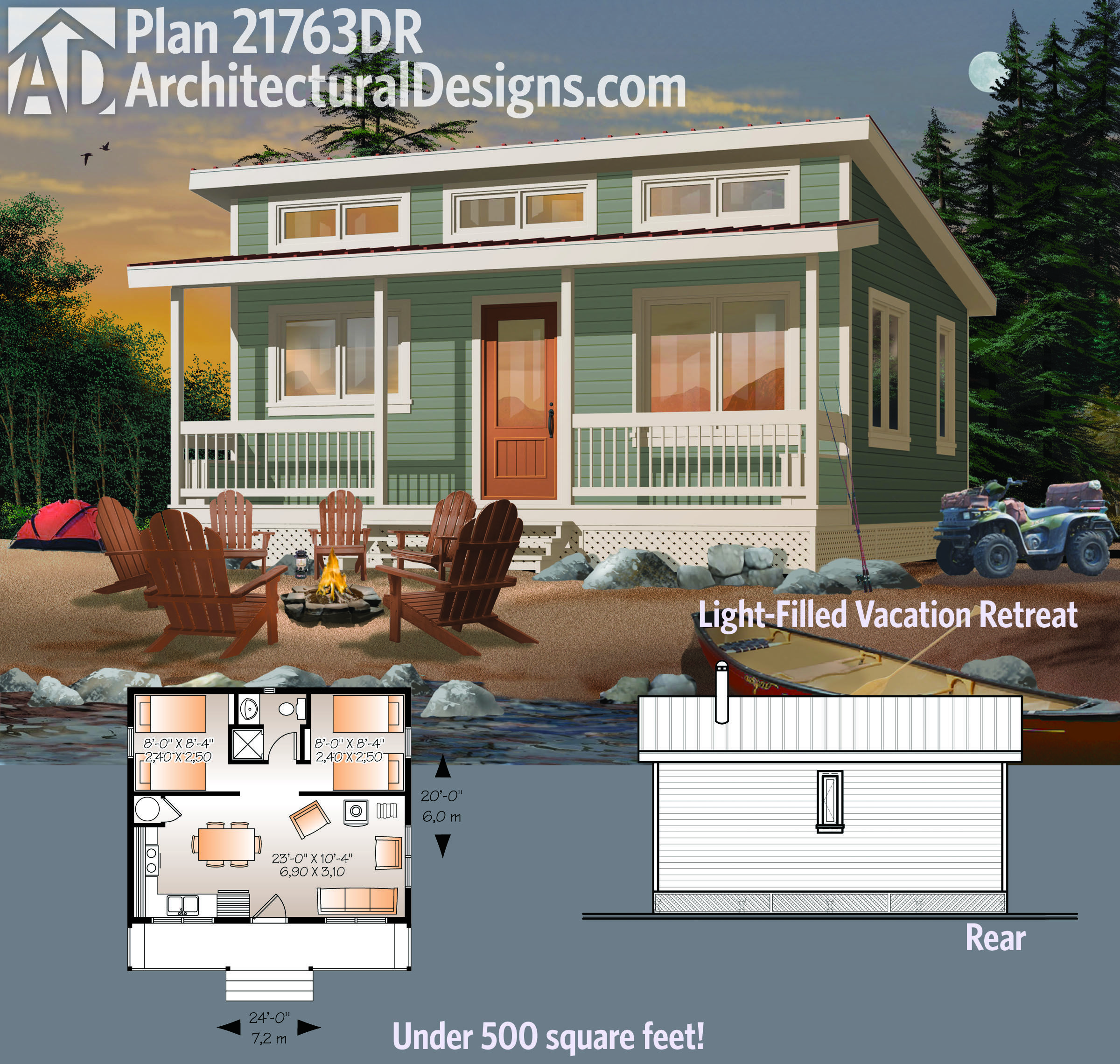Architectural Designs Tiny House Plan 21763DR gives