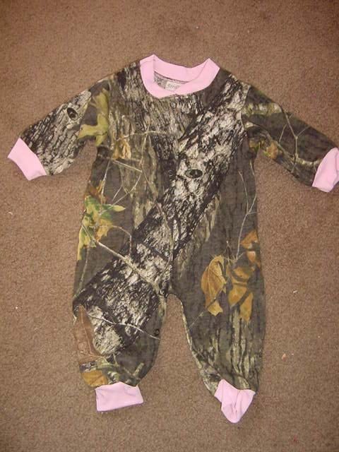 355d147e74b1c Camouflage Camo Pink Trim Baby Girl Infant by Embroideryworld | Baby ...