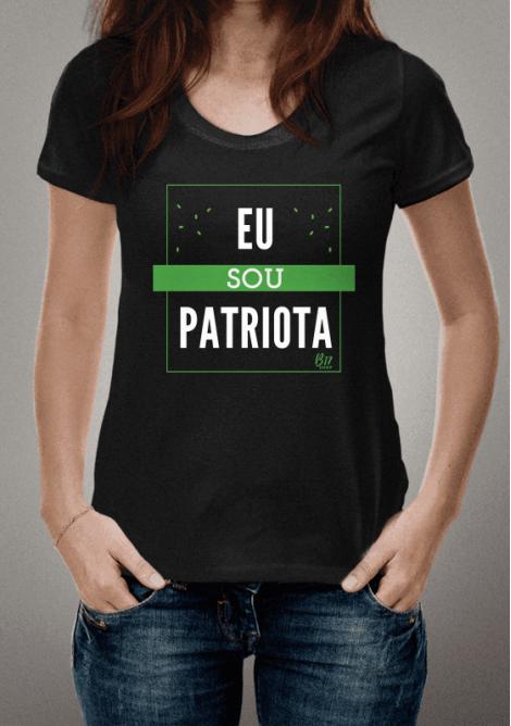 Camiseta Bolsonaro - Coleção Patriota Tipográfica - Verde e Amarela - B17  SHOP   Todos os 094104152f0