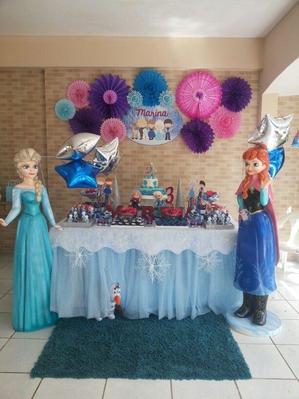 Frozen Decor  Frozen decorations, Birthday balloon decorations