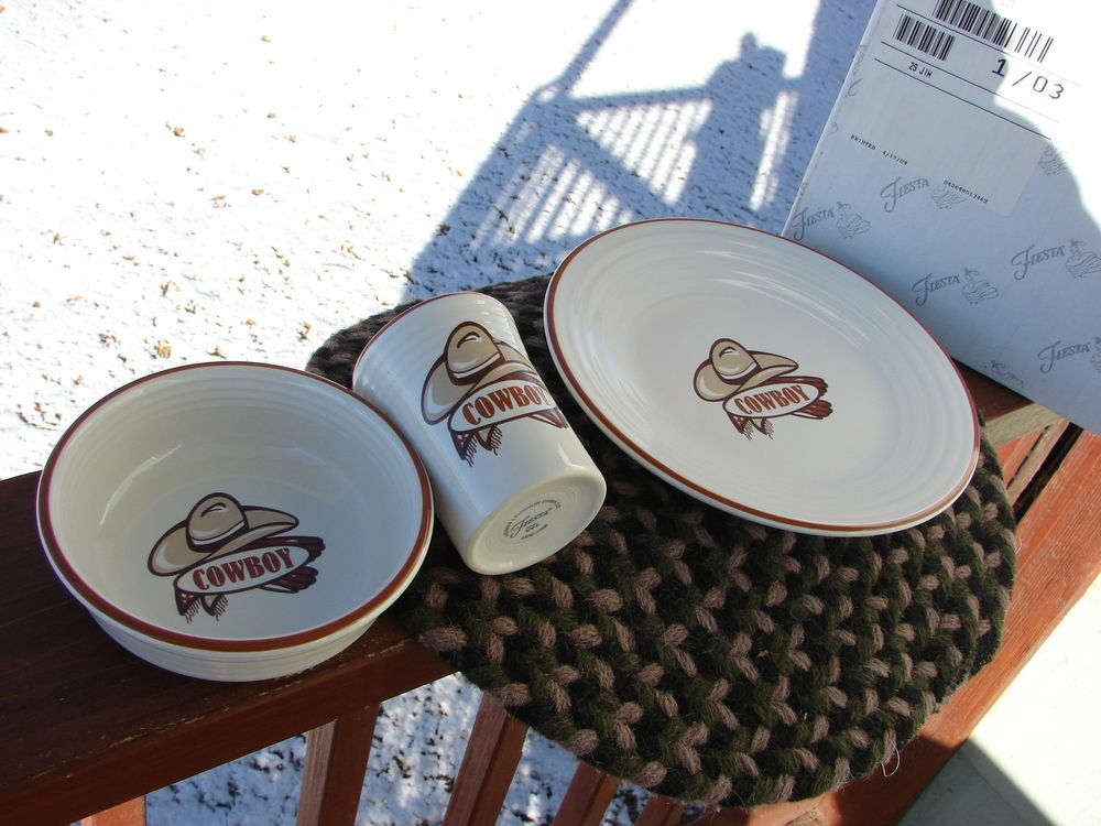 Fiestaware Fiesta Cowboy Children dinner set & Fiestaware Fiesta Cowboy Children dinner set | Dinner sets Fiestas ...