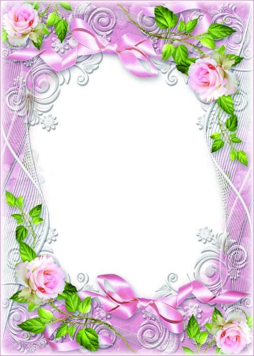 Flower Frame Psd Template Tenderness Roses Morning Planner