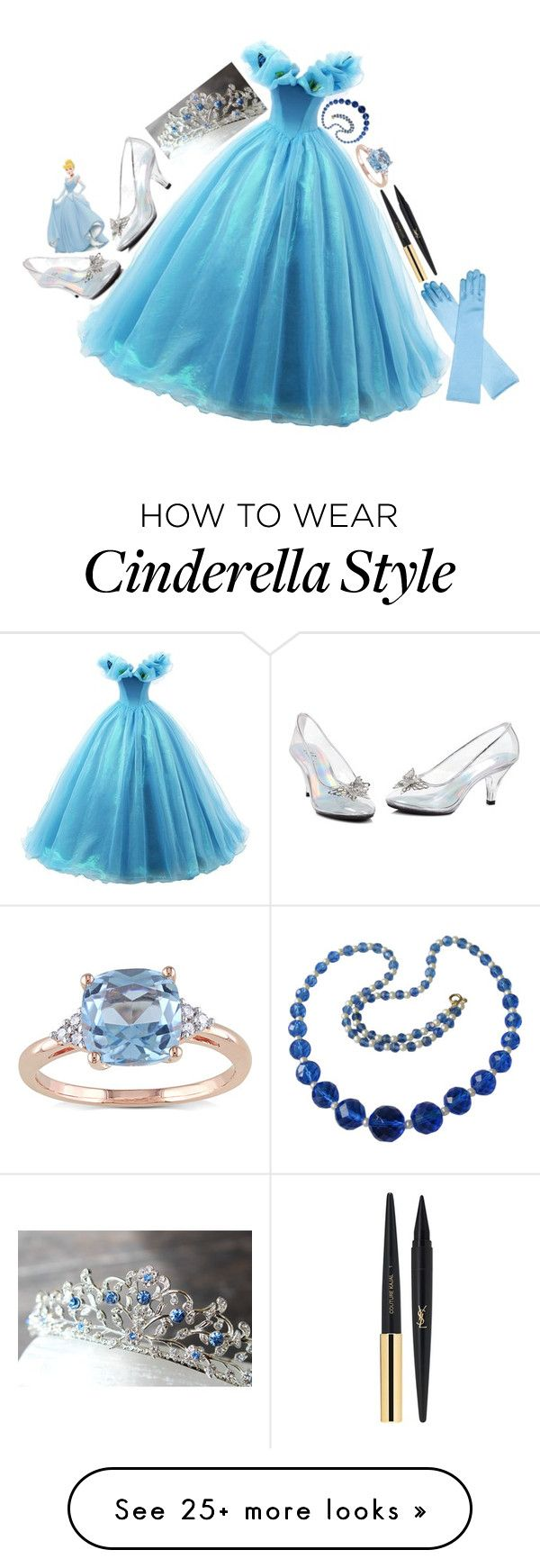 """Cinderella Costume"" by b3thst on Polyvore featuring moda, Miadora y Yves Saint Laurent"