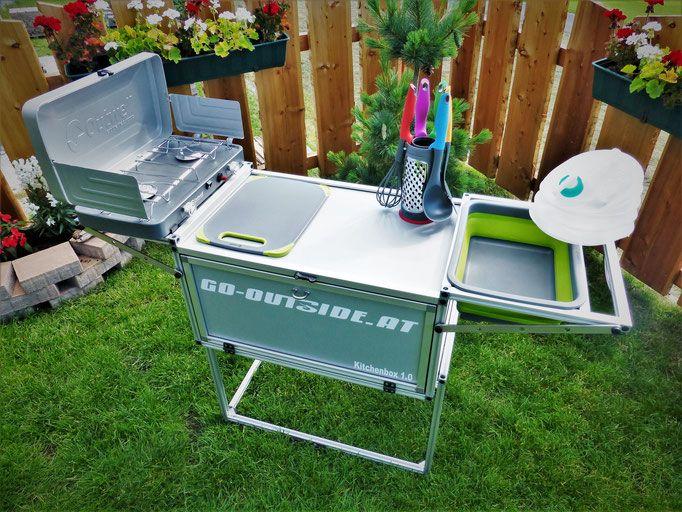 Outdoorküche Klein Wanita : Bei der kitchenbox handelt es sich um eine tragbare bzw. mobile