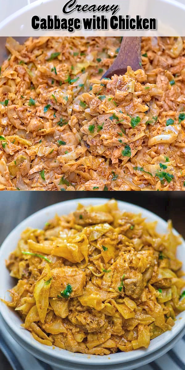 Photo of Creamy Cabbage with Chicken
