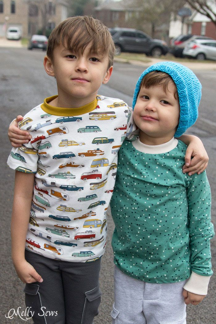 Sew a T-shirt for Boys - with Free Pattern | Stuff to Sew for Boys ...