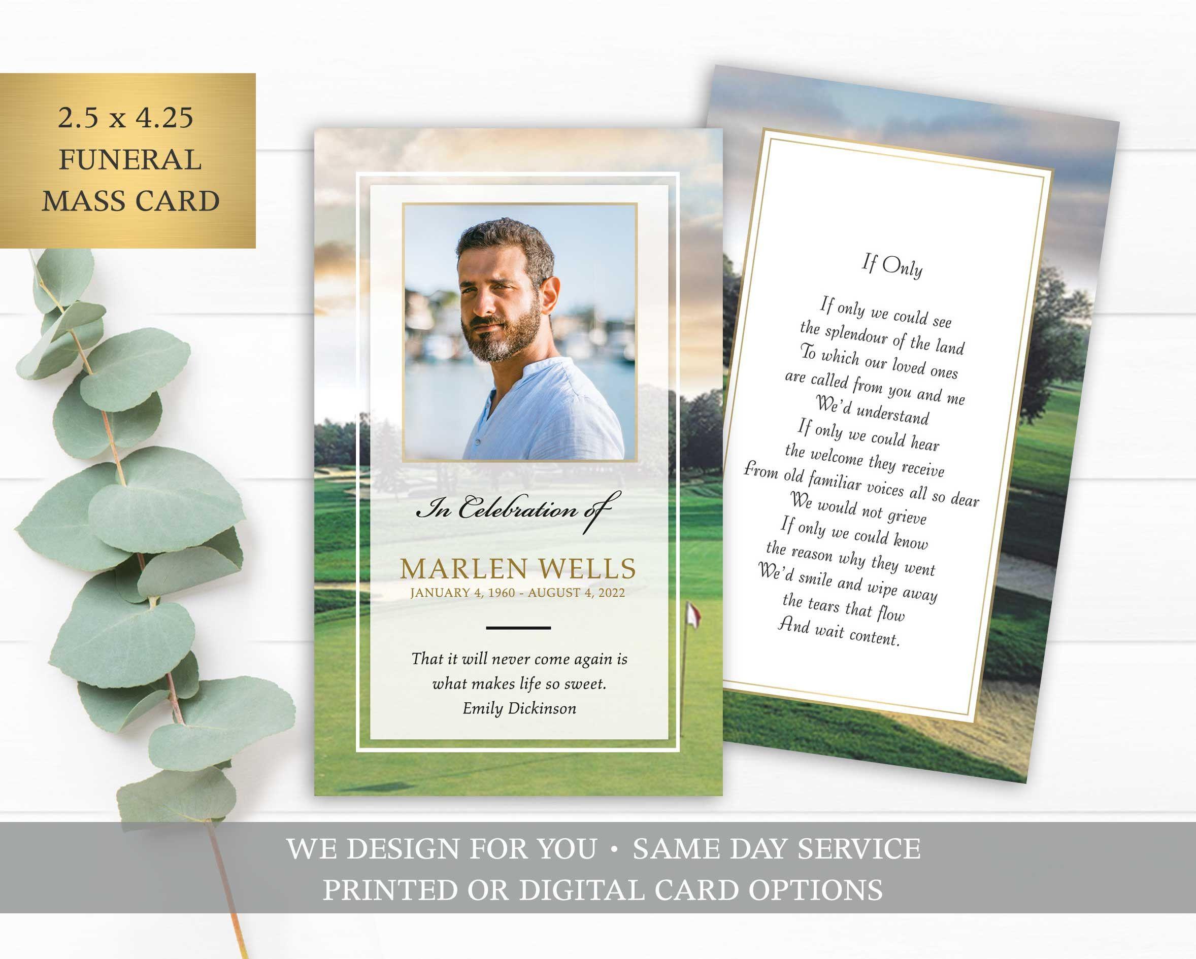 Funeral Prayer Card Template Printable Memorial Prayer Card Etsy Prayer Cards Printable Funeral Prayers Prayer Cards