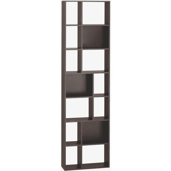 Tall Narrow Bookshelf Bookcase In Cleo Black