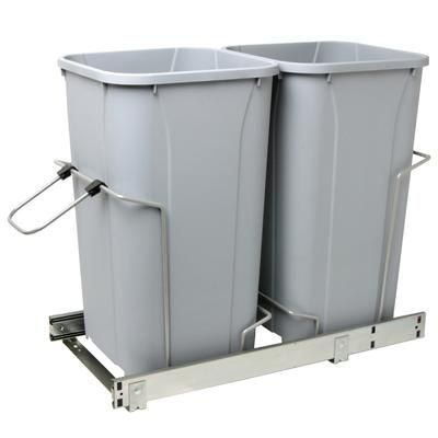 Real Solutions - Double Soft-Close Slide-Out Waste Bin ...