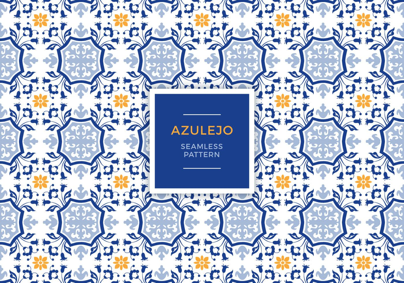 Azulejo Seamless Pattern Vector Graphic U2014 Traditional, Decorative,  Portuguese, Decoration, Ornamental,