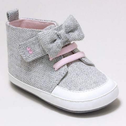 182df2fbc95e Surprize by Stride Rite Baby Girls  Surprize by Stride Rite® Sara High Top  Sneaker Soft Sole Shoes - Grey