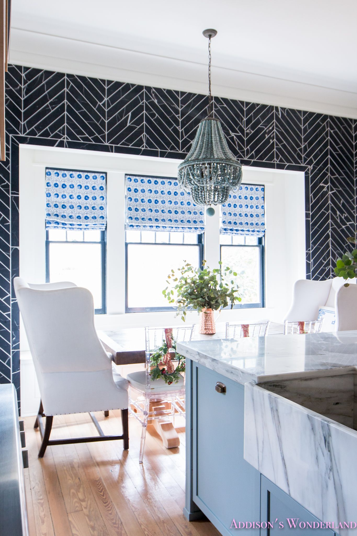 Inside Our Vintage Modern Style Holiday Kitchen... | Calcutta gold ...