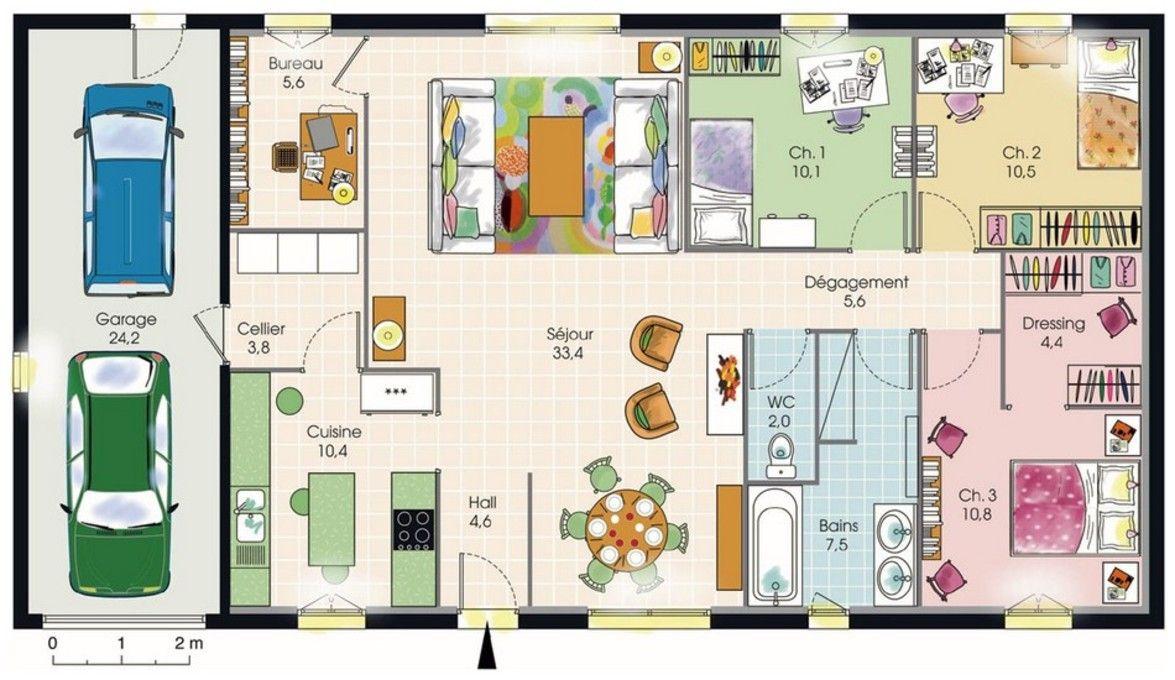 Superieur Plan Maison Toit Terrasse Plain Pied Vous Cherchez Un Plan Pour Construire  Votre Maison Plain Belles Idees