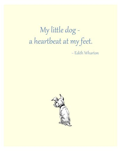 My Little Dog A Heartbeat At My Feet Edith Wharton Lambeau