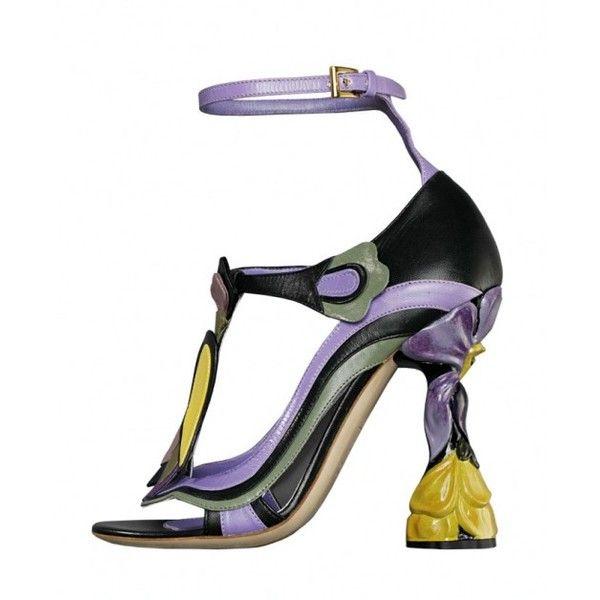 Talon Jetavenue Cuir Prada Chaussure Fleur À En wBUIaaq7