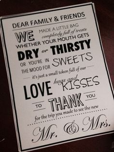 Nicole Created This Card To Attach The Welcome Bags For Out Of