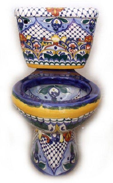 Talavera toilet for a rustic bathroom by Rustica House. #myrustica ...
