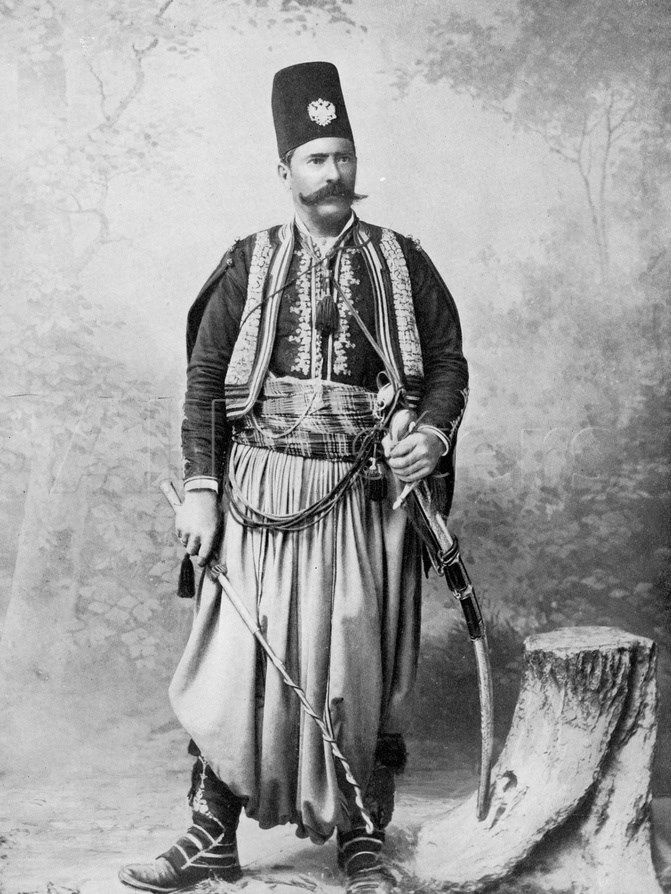 Syrian Man in Traditional Costume and Wearing a Tarboosh ...