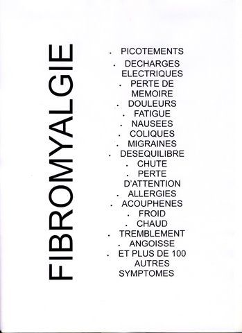 quelques sympt mes de la fibromyalgie fibromyalgie pinterest fibromyalgia. Black Bedroom Furniture Sets. Home Design Ideas