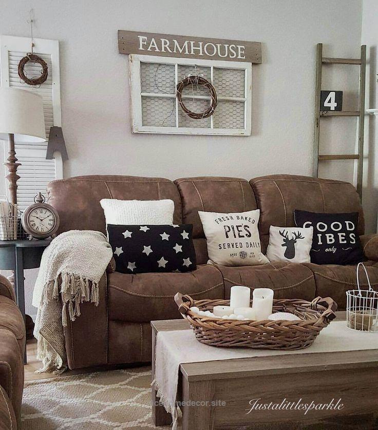 Microfiber Couch Farmhouse Living Room Decor Ideas… Httpwww Enchanting Farmhouse Living Room Design Ideas Review