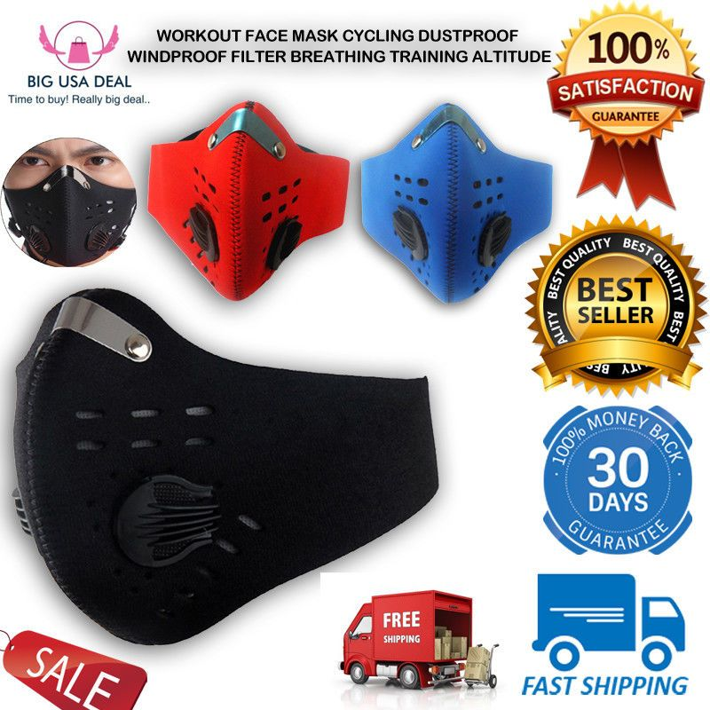 Workout Face Mask Cycling Dustproof Windproof Filter