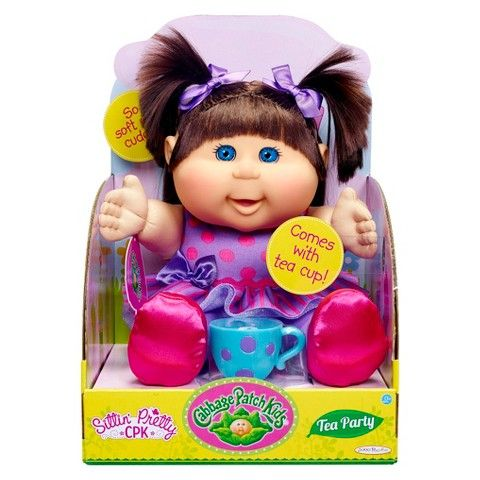 Cabbage Patch Kids Tea Party Toddler Brunette Blue Eyes