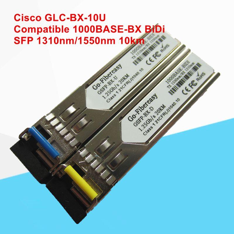 GLCBX10U Compatible 1000BASEBX SFP Transceiver Module
