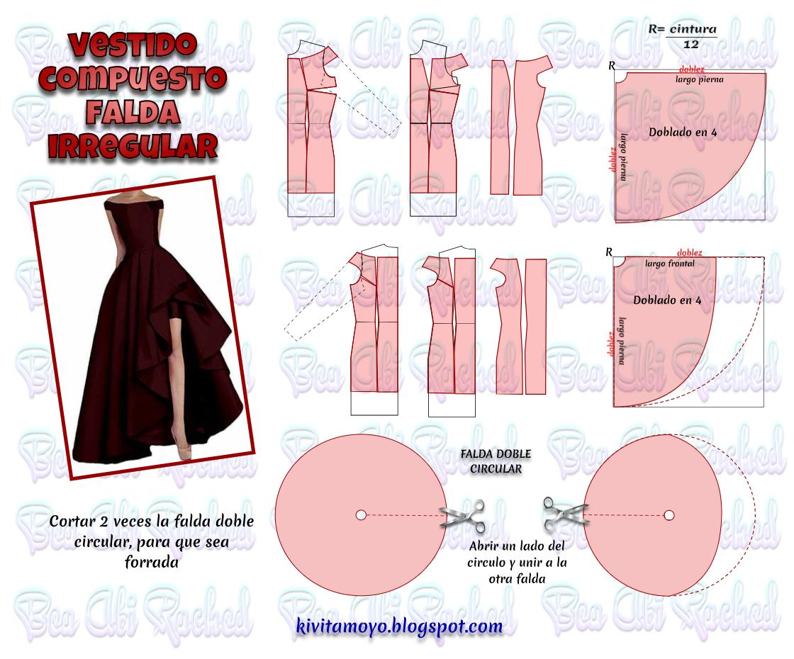 KiVita MoYo : VESTIDO COMPUESTO FALDA IRREGULAR | A patrones ...