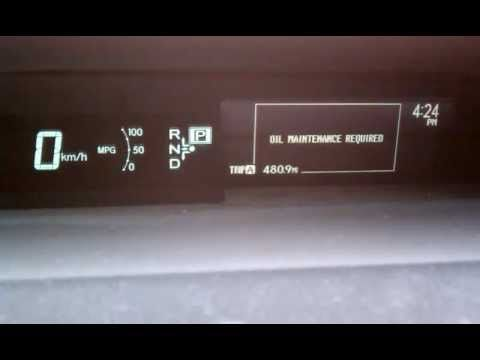 Toyota Prius 2010 Oil Light Reset Youtube Prius Help
