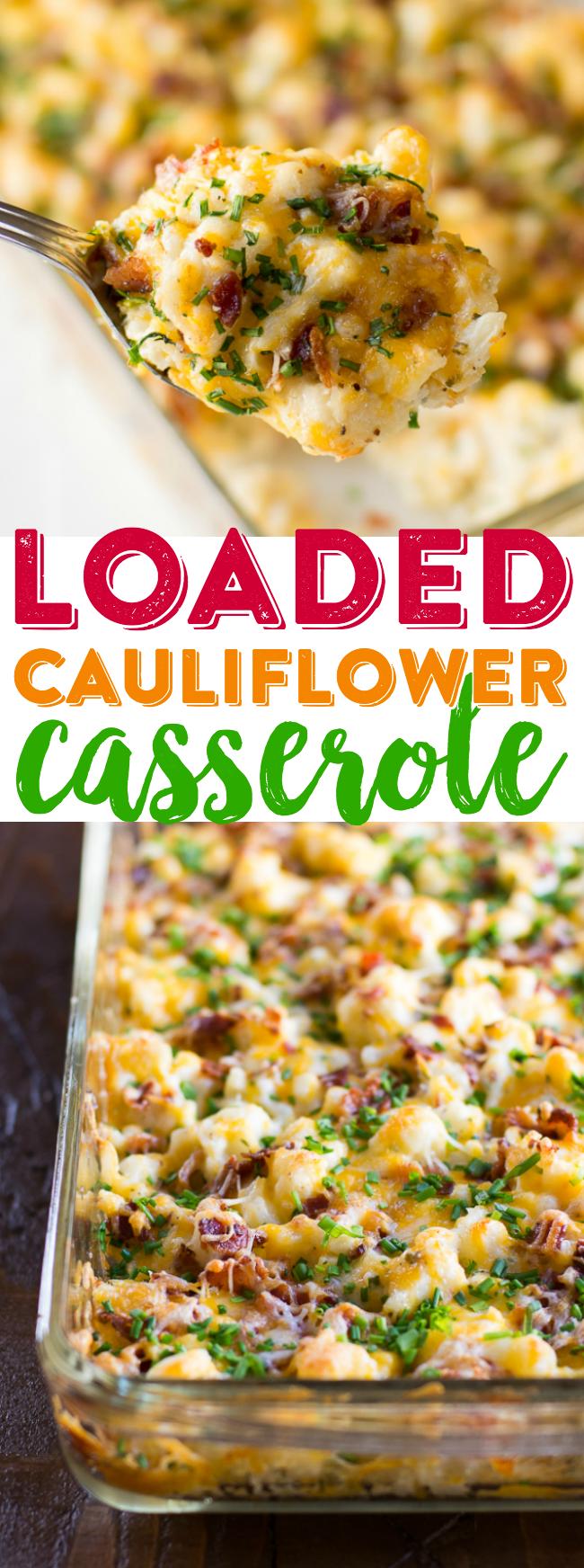 Photo of Loaded Cauliflower Casserole Recipe