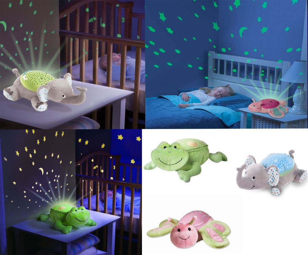 Babys Cot Mobile Night Light Projector Nursery Light Show