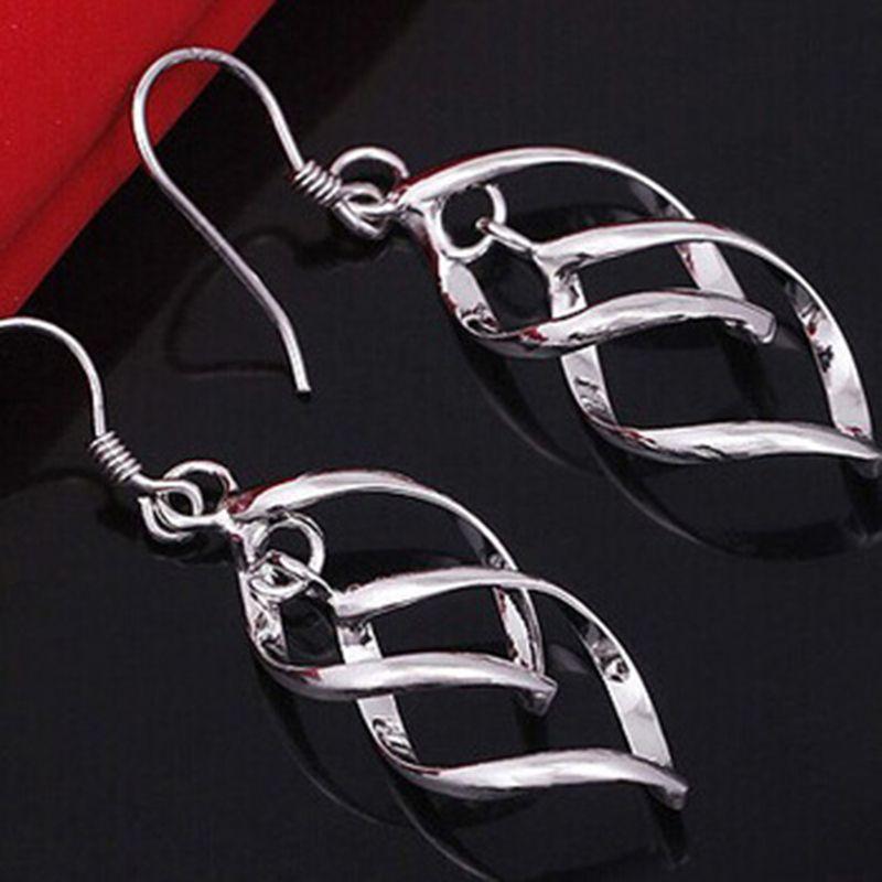 간단한 중공 마름모 실버 라이트 옐로우 골드 컬러 스터드 귀걸이 피어싱 보석