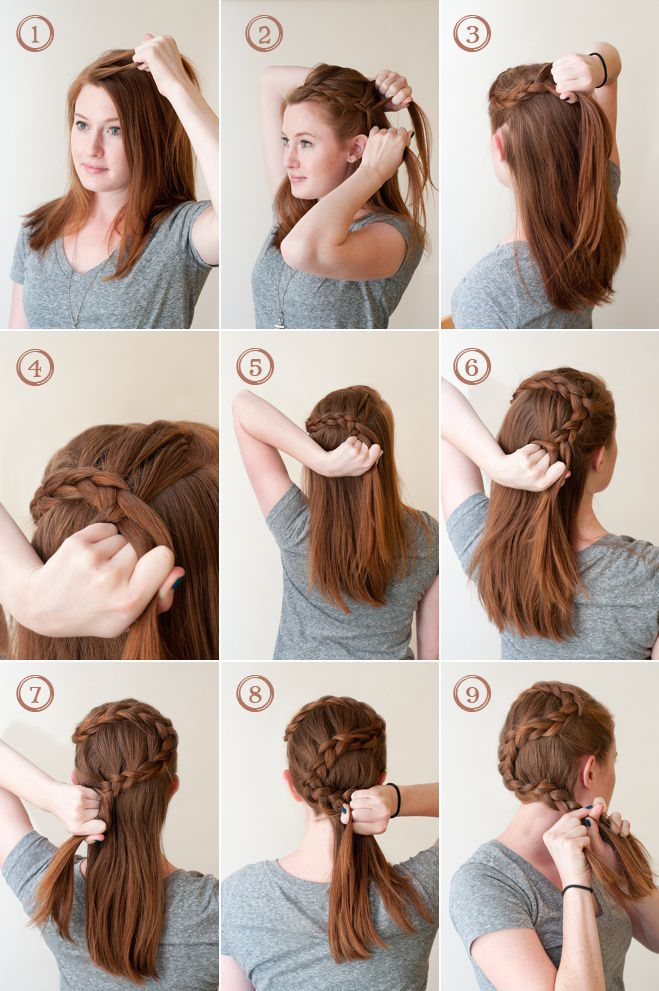 The Circlet French Braid A How To Guide For Any Wedding Occasion Hair Styles Pretty Hairstyles Fancy Hairstyles