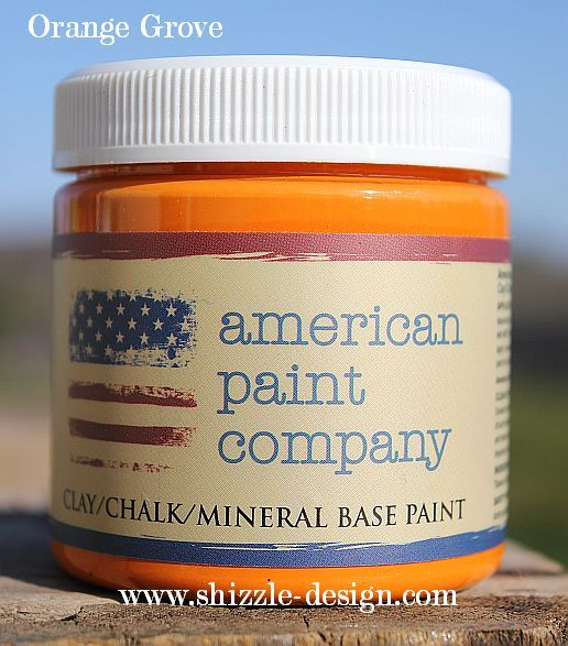 Orange Grove by American Paint Company now available at Shizzle Design Michigan colors chalk clay paint furniture http://shizzle-design.com/2014/10/huge-paint-sale-going-on-now-at-shizzle-design.html