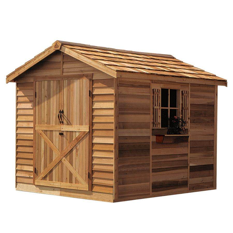 Cedarshed Rancher Gable Cedar Storage Shed Common 8 Ft X 10 Ft Interior Dimensions 7 33 Ft X 9 62 Ft Building A Shed Cedar Shed Shed Kits