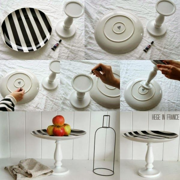 Hege In France Tuesday Tips Cake Stand Diy