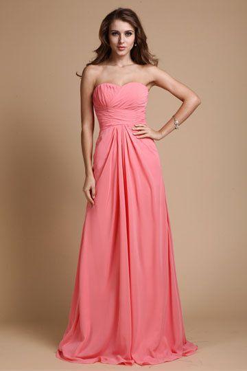 Robe Longue Rose Fushia Ensconet