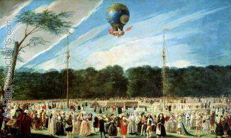 The Ascent of the Montgolfier Balloon at Aranjuez, c.1764 Louis (Carrogis) de Carmontelle