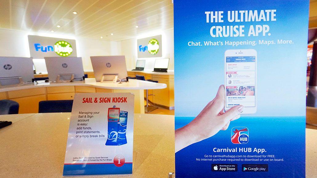 carnival hub app onboard carnival cruise line s advanced internet