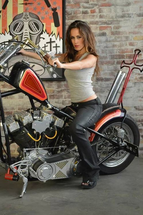 Pretty Girl On A Motorcycle - Motorbikes  -9321